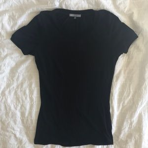 James Perse Black Cotton Fitted Tee